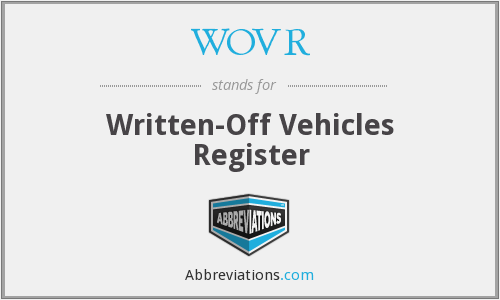 WOVR - Written-Off Vehicles Register
