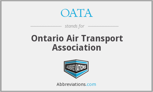 OATA - Ontario Air Transport Association