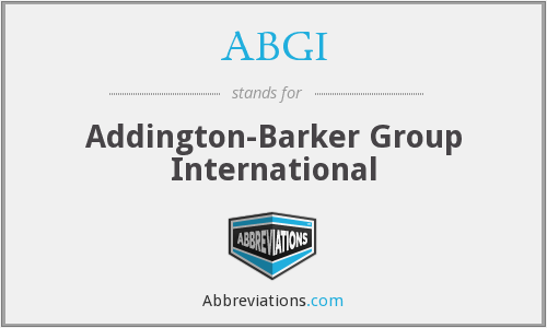 ABGI - Addington-Barker Group International