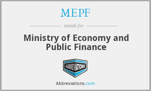 MEPF - Ministry of Economy and Public Finance