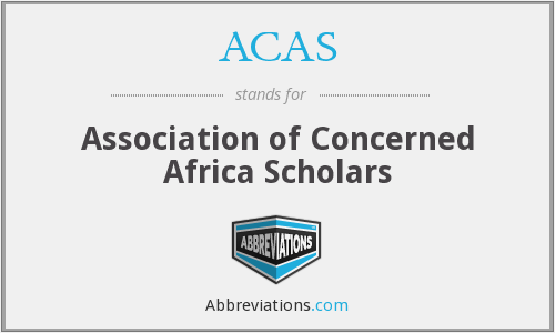 ACAS - Association of Concerned Africa Scholars