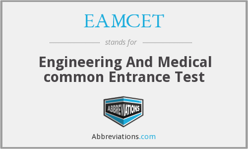 What does EAMCET stand for?