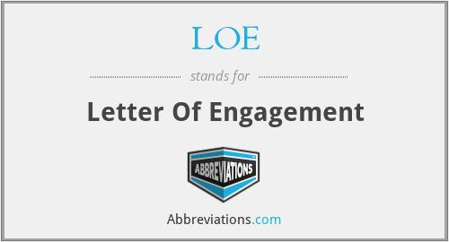 LOE - Letter Of Engagement