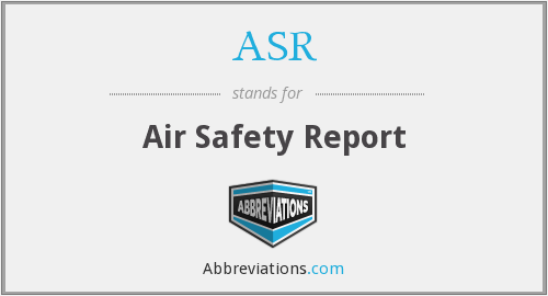 ASR - Air Safety Report