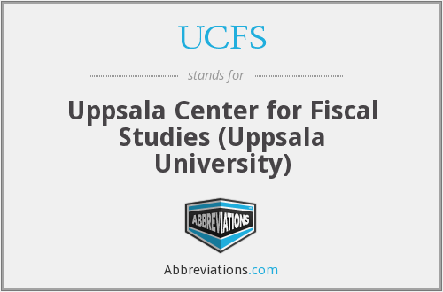UCFS - Uppsala Center for Fiscal Studies (Uppsala University)