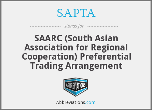 Sapta Saarc South Asian Association For Regional Cooperation