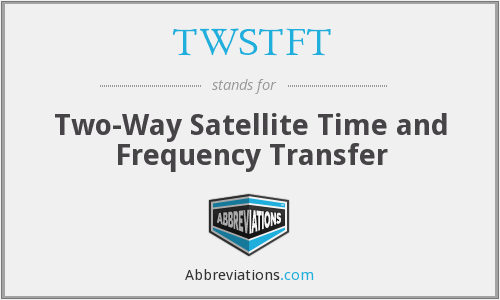 TWSTFT - Two-Way Satellite Time and Frequency Transfer