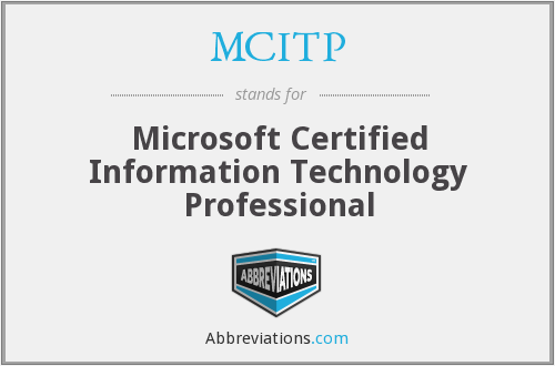 What does MCITP stand for?