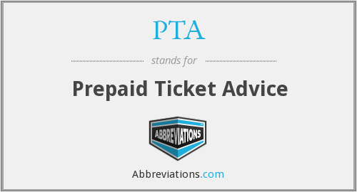 PTA - Prepaid Ticket Advice