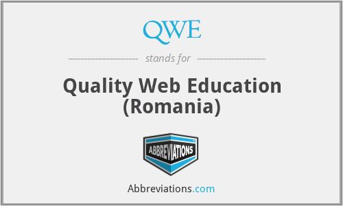QWE - Quality Web Education (Romania)