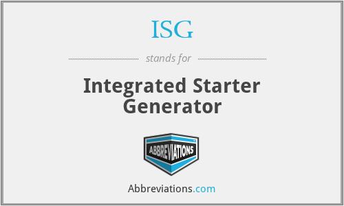 ISG - Integrated Starter Generator