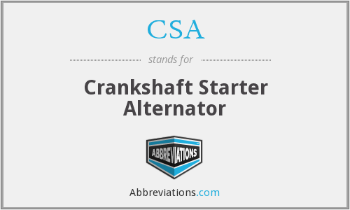 CSA - Crankshaft Starter Alternator