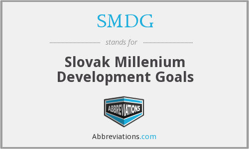 SMDG - Slovak Millenium Development Goals