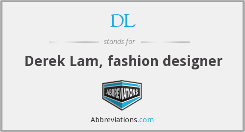 DL - Derek Lam, fashion designer