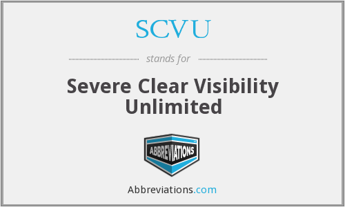 What does SCVU stand for?