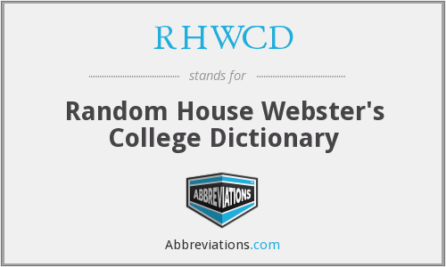 What does RHWCD stand for?