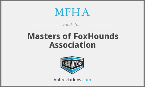 MFHA - Masters of FoxHounds Association