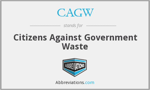 CAGW - Citizens Against Government Waste