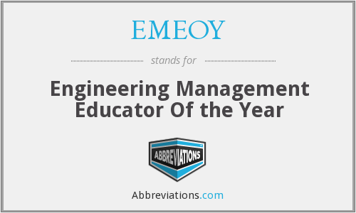 EMEOY - Engineering Management Educator Of the Year