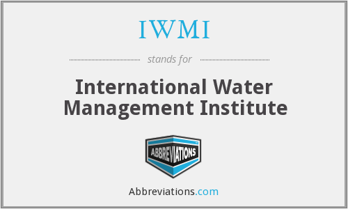 What does IWMI stand for?
