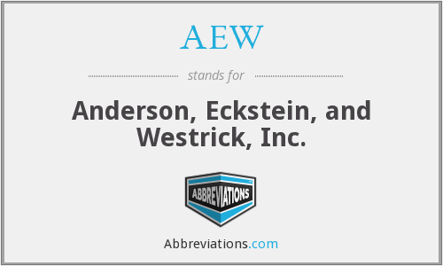 AEW - Anderson, Eckstein, and Westrick, Inc.