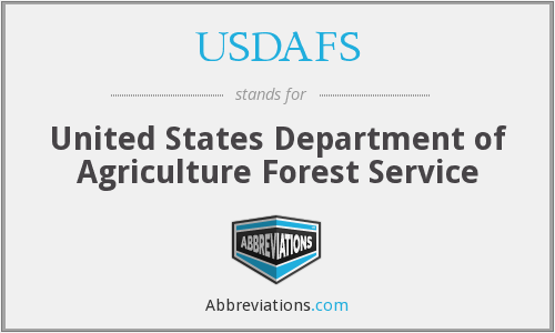 What does USDAFS stand for?