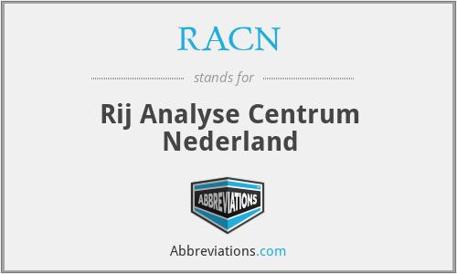 RACN - Rij Analyse Centrum Nederland