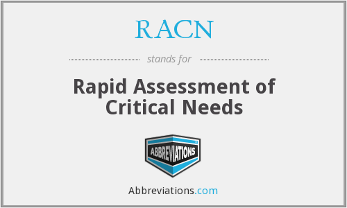 RACN - Rapid Assessment of Critical Needs