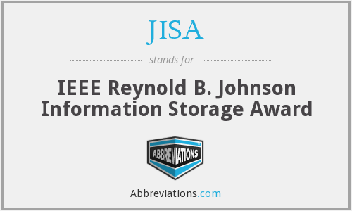 JISA - IEEE Reynold B. Johnson Information Storage Award
