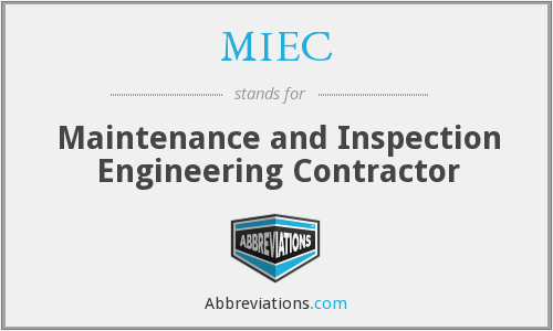 MIEC - Maintenance and Inspection Engineering Contractor