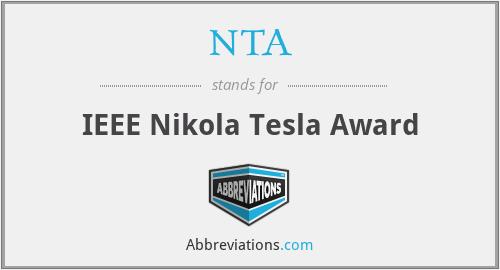 NTA - IEEE Nikola Tesla Award