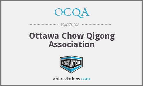 OCQA - Ottawa Chow Qigong Association