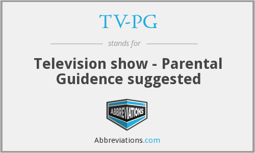 TV-PG - Television show - Parental Guidence suggested