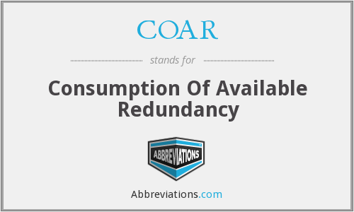 COAR - Consumption Of Available Redundancy