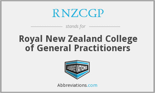 RNZCGP - Royal New Zealand College of General Practitioners