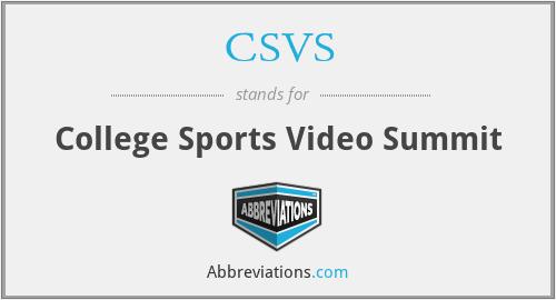 CSVS - College Sports Video Summit