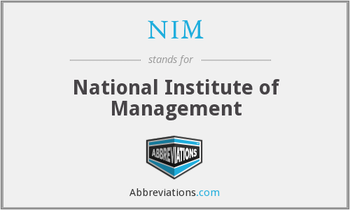 NIM - National Institute of Management