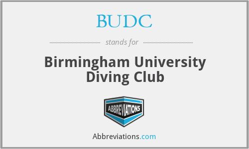 BUDC - Birmingham University Diving Club