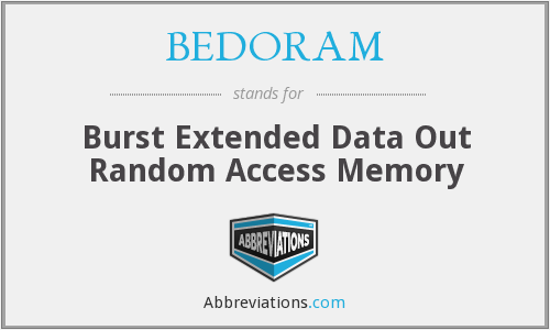 BEDORAM - Burst Extended Data Out Random Access Memory