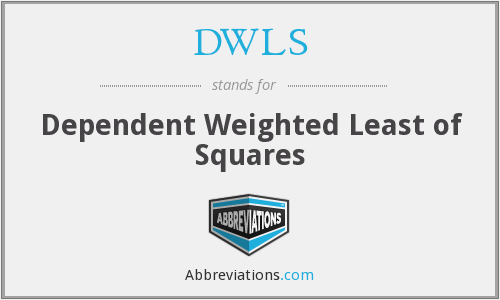 DWLS - Dependent Weighted Least of Squares