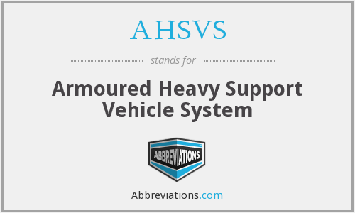 What does AHSVS stand for?
