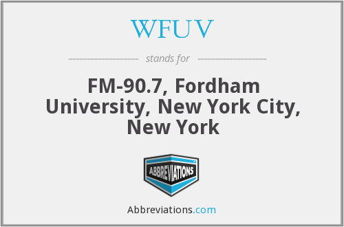 WFUV - FM-90.7, Fordham University, New York City, New York