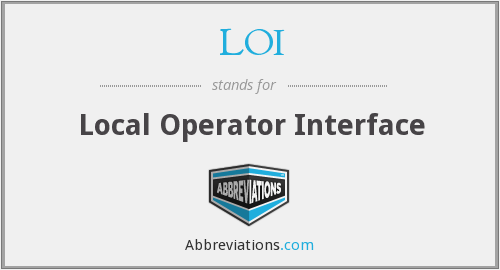 LOI - Local Operator Interface