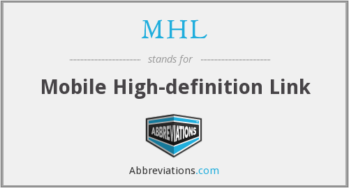 MHL - Mobile High-definition Link