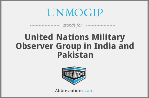 UNMOGIP - United Nations Military Observer Group in India and Pakistan