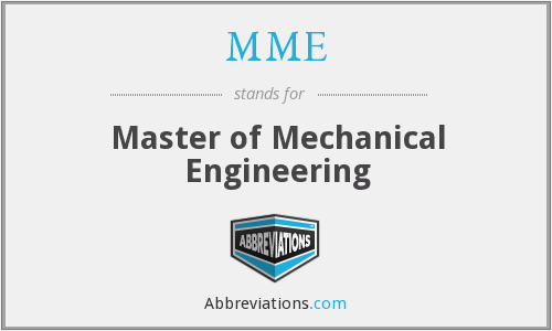 MME - Master of Mechanical Engineering