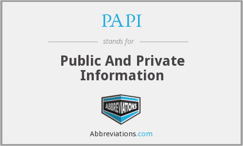 PAPI - Public And Private Information