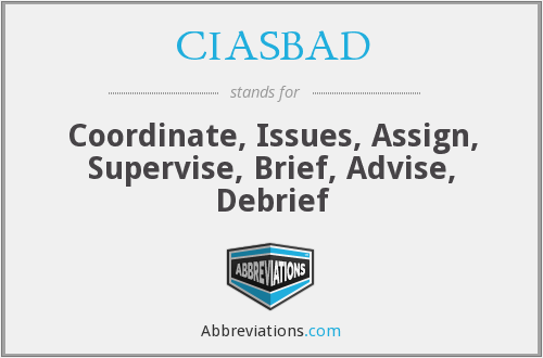 What does CIASBAD stand for?