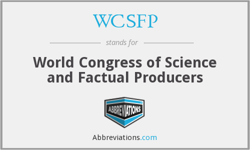 WCSFP - World Congress of Science and Factual Producers
