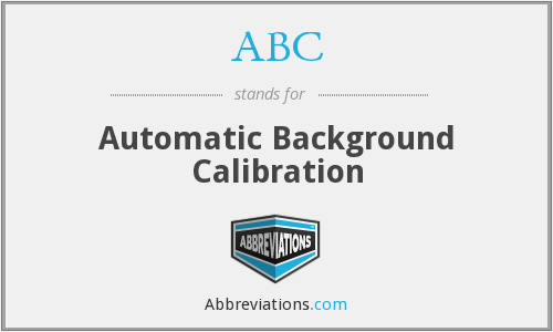 ABC - Automatic Background Calibration